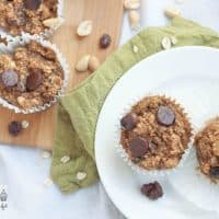 Trail Mix Muffins - an easy on-the-go snack or breakfast that won't make the mess that trail mix does | Happy Food Healthy Life