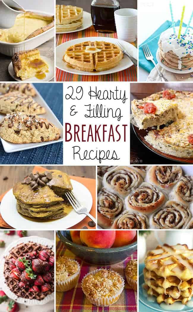 National Breakfast Month is the best month ever! That's why I've put together all the best breakfast recipes in one post!! | www.happyfoodhealthylife.com