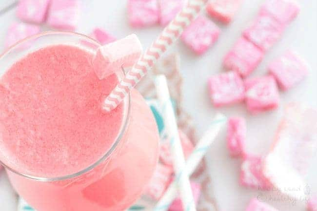 Lightened Up Pink Starburst Cocktail - a health-conscious skinny drink that tastes just like a Pink Starburst - and lots of tips for keeping your drinks light