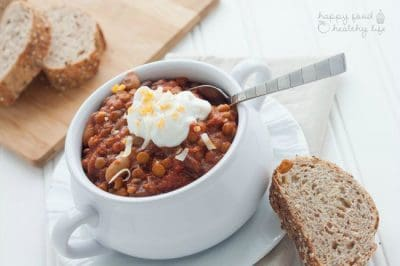 5-Minute Slow-Cooker Vegetarian Chili