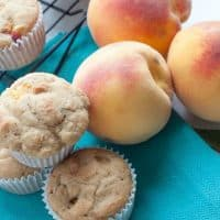 Whole Wheat Healthy Peach Muffins