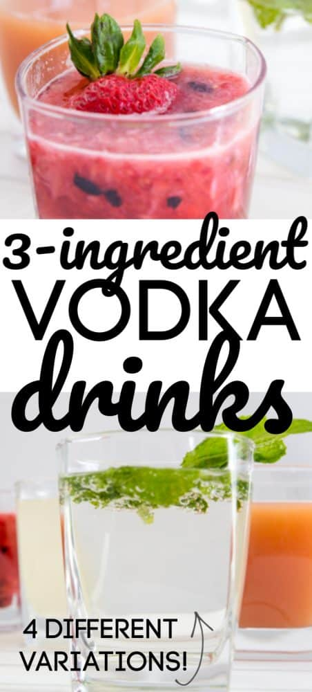 Easy Mixed Drinks with Vodka