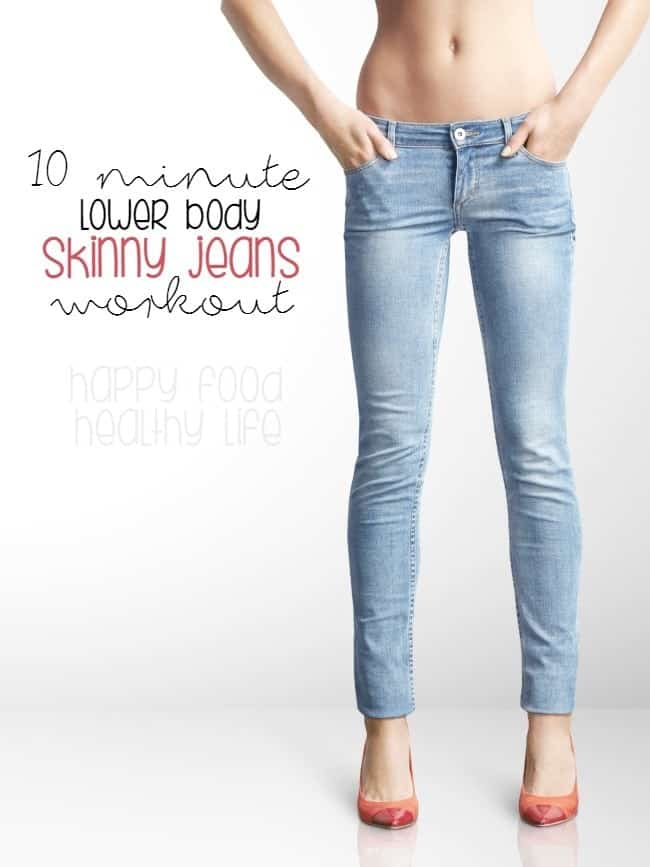 10-Minute Lower Body Skinny Jeans Workout - Get both your cardio and your lower body working. A great quick workout that totally works the booty and legs.