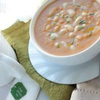 "Bean and No Bacon Soup Recipe - Love the classic Campbells soup but could do without the bacon or the ""soup from a can?"" How about this copycat version with no bacon and more nutrients! vegetarian, vegan, and healthy!"