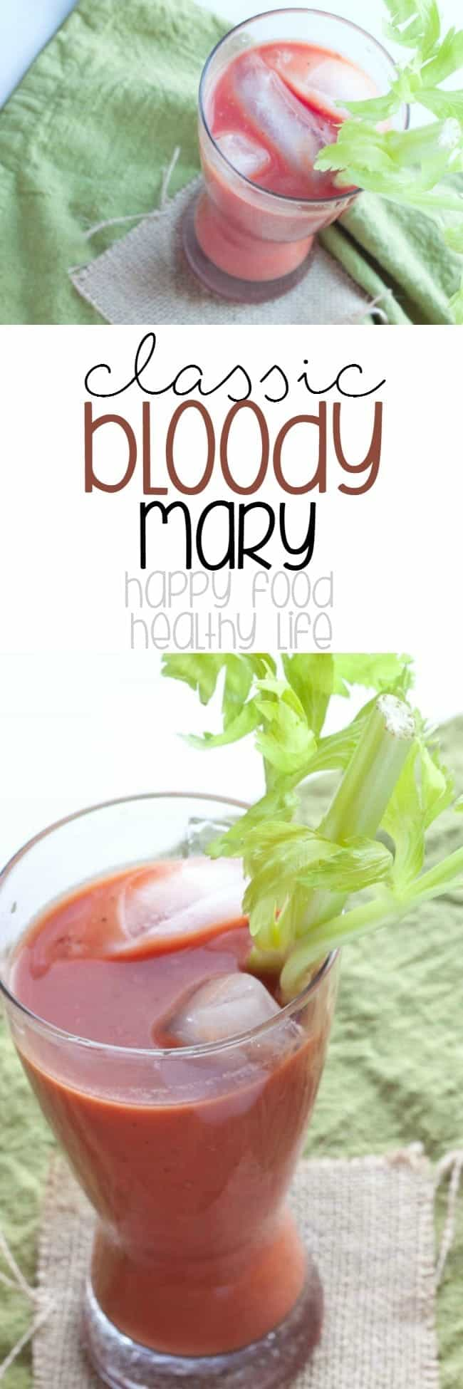 Classic Bloody Mary - need a hangover cure? Or how about just a delicious cocktail? This bloody mary is both of those things!