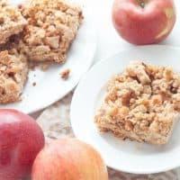 Healthy Apple Crumble Breakfast Bars