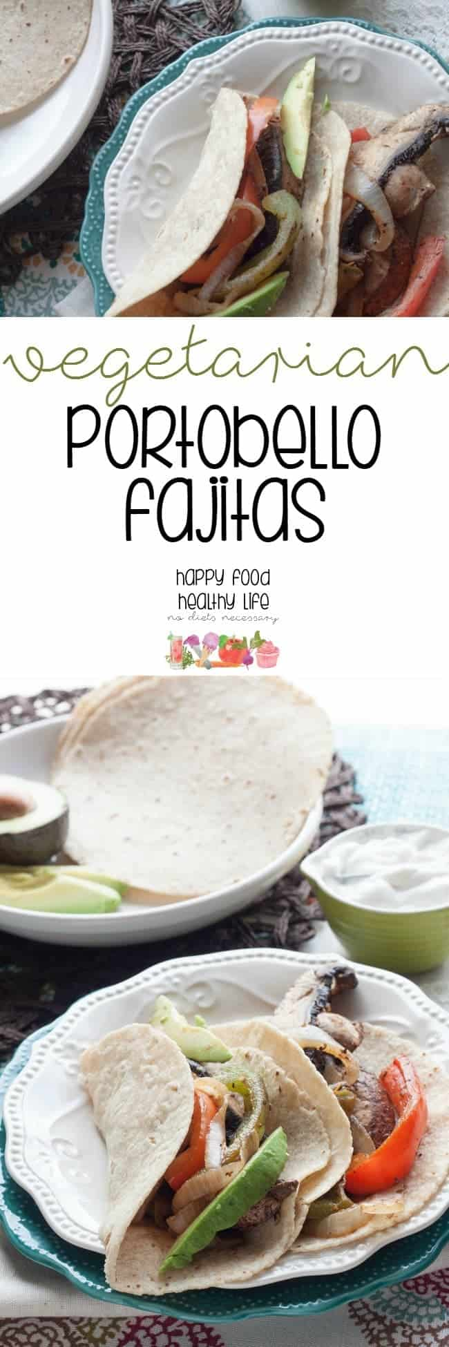 Vegetarian Portobello Fajitas - I was able to get this healthy dinner on the table within 20 minutes, which is exactly what I need for a busy weeknight.