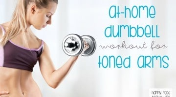 At-Home Dumbbell Workout for Toned Arms - don't want to leave the house to workout? With this workout, you can get toned arms right from your living room with just a pair of dumbbells.