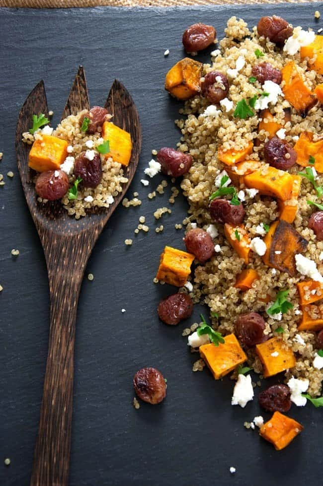 Butternut-Squash-Quinoa-Salad-Goat-Cheese-and-Roasted-Grapes