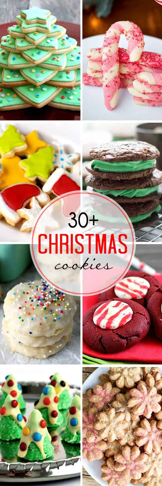 Over 30 of the best Christmas Cookies from your favorite food bloggers!