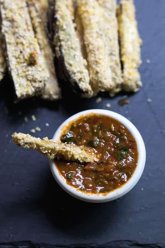 Cornmeal-Crusted-Eggplant-Fries-with-Basil-Clove-Marinara