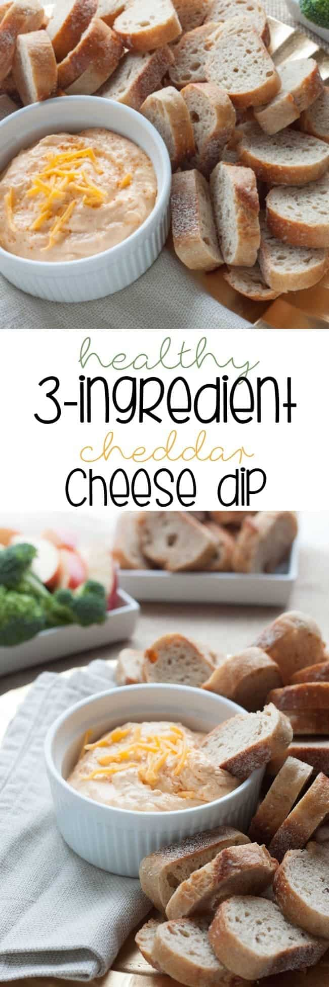 Healthy 3-Ingredient Spicy Cheddar Cheese Dip - Save the day by bringing this super easy and healthy appetizer to your next holiday dinner
