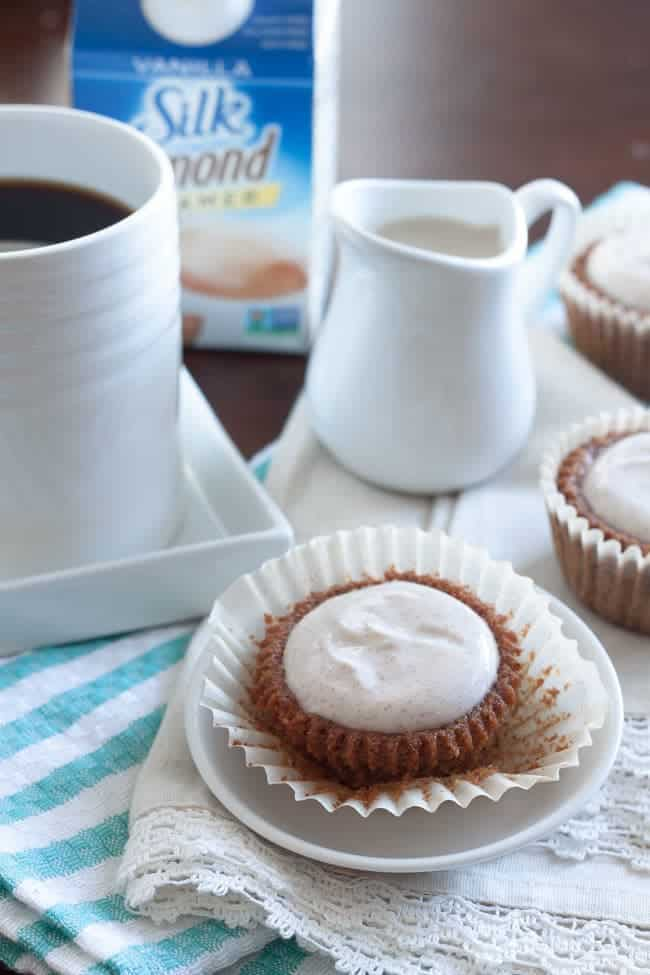 Healthy Gingerbread Muffins - healthy and with a vegan option, you can enjoy this holiday-spiced treat along with your coffee or as a dessert!