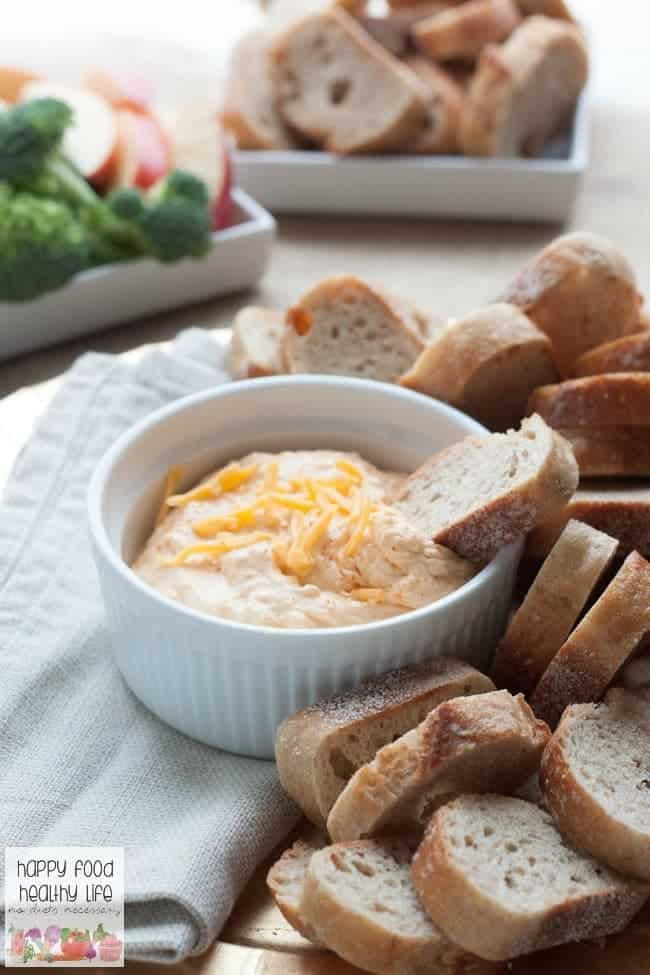 Healthy 3-Ingredient Spicy Cheddar Cheese Dip - Happy Food ...