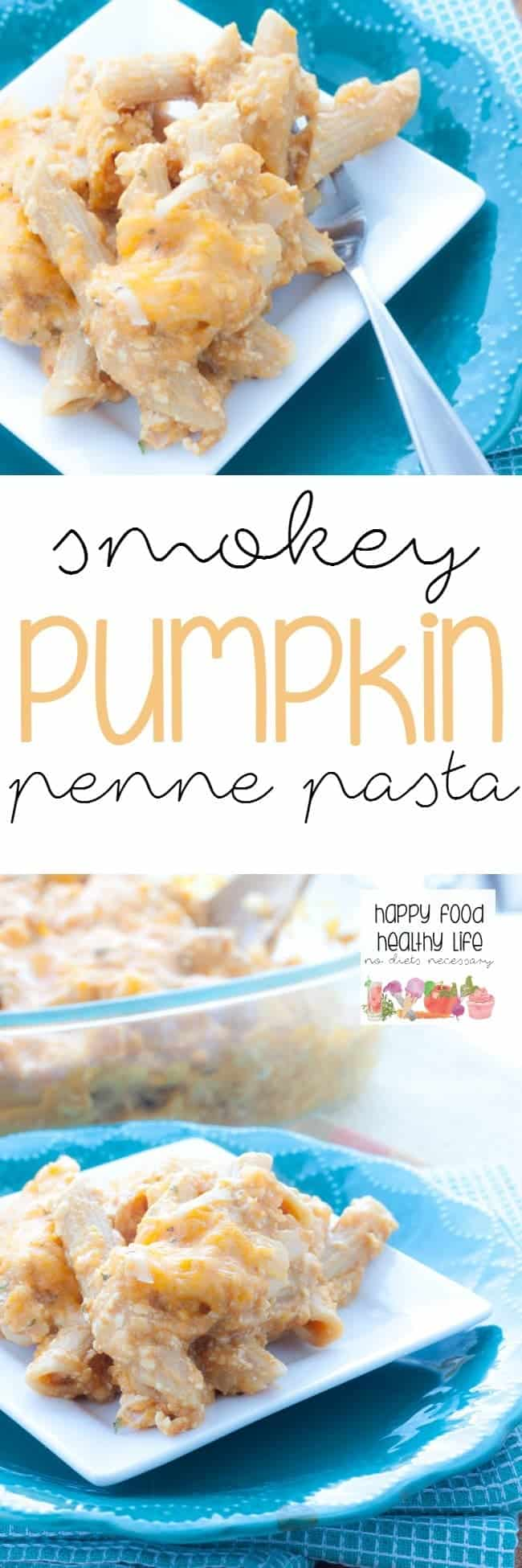 Smokey Pumpkin Penne Pasta - An easy and healthy weeknight meal that is packed with a ton of flavor but will be on the table in no time!