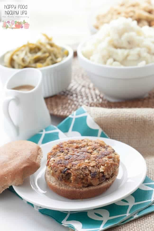 Thanksgiving Leftover Veggie Burger - Want a new and inventive way to make a veggie burger using your leftovers from Thanksgiving? Check this out!