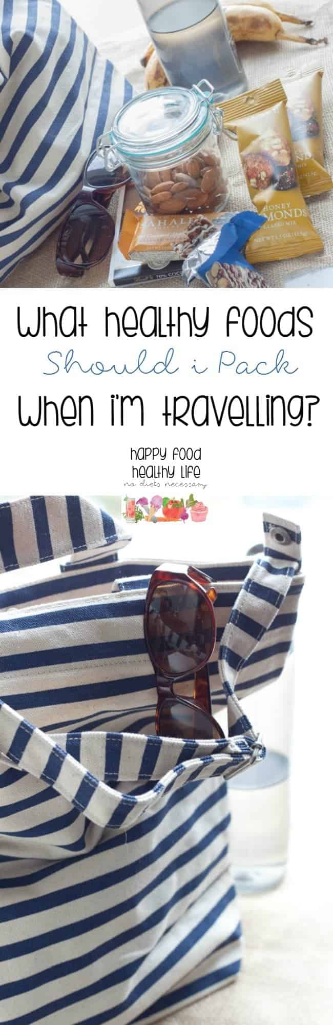 What Healthy Foods Should I Pack When I'm Travelling? This gives some great tips for snacks to take to the airport and in your travels when you won't have access to a kitchen.