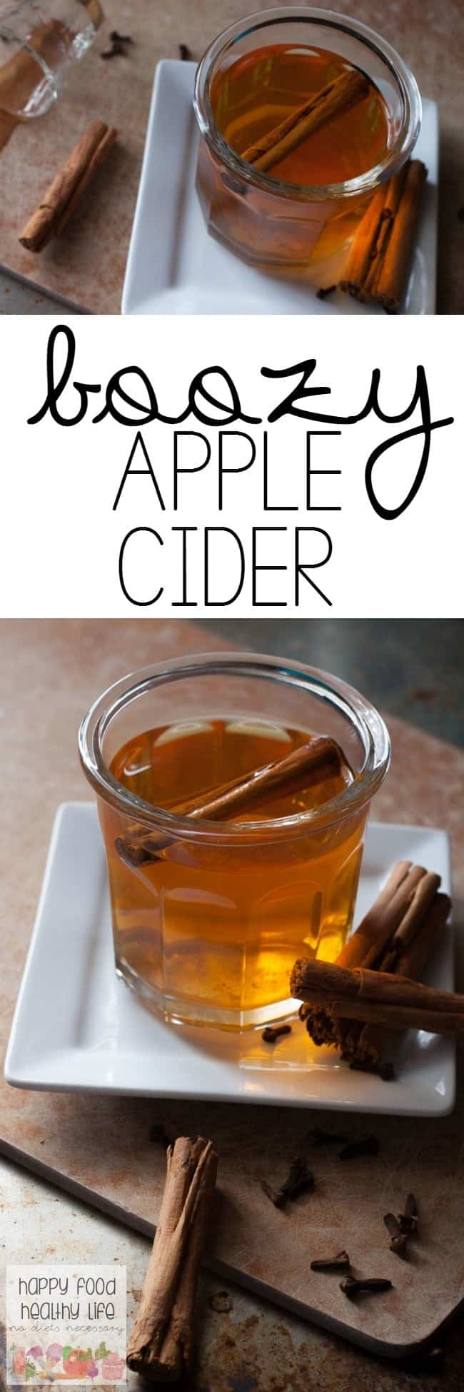 Boozy Apple Cider - the best hot drink you'll make this year.Only takes a few ingredients, 15 minutes, and can even be customized for kids as a non-alcoholic beverage!