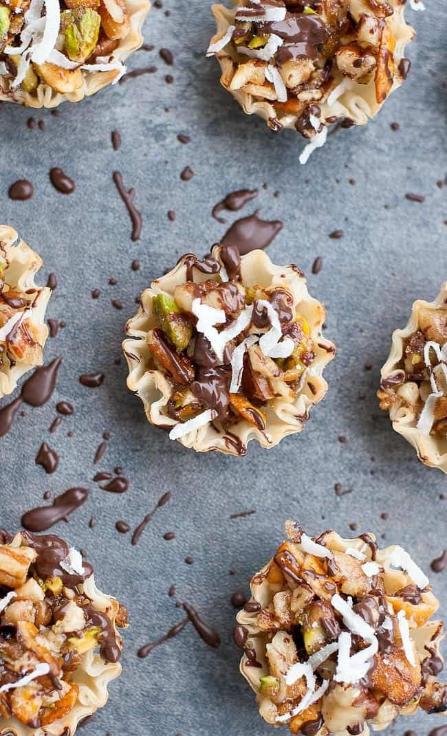 chocolate-covered-baklava-bites-chocolate-coconut-pistachio-phyllo-cups-no-bake-recipe-0075xL
