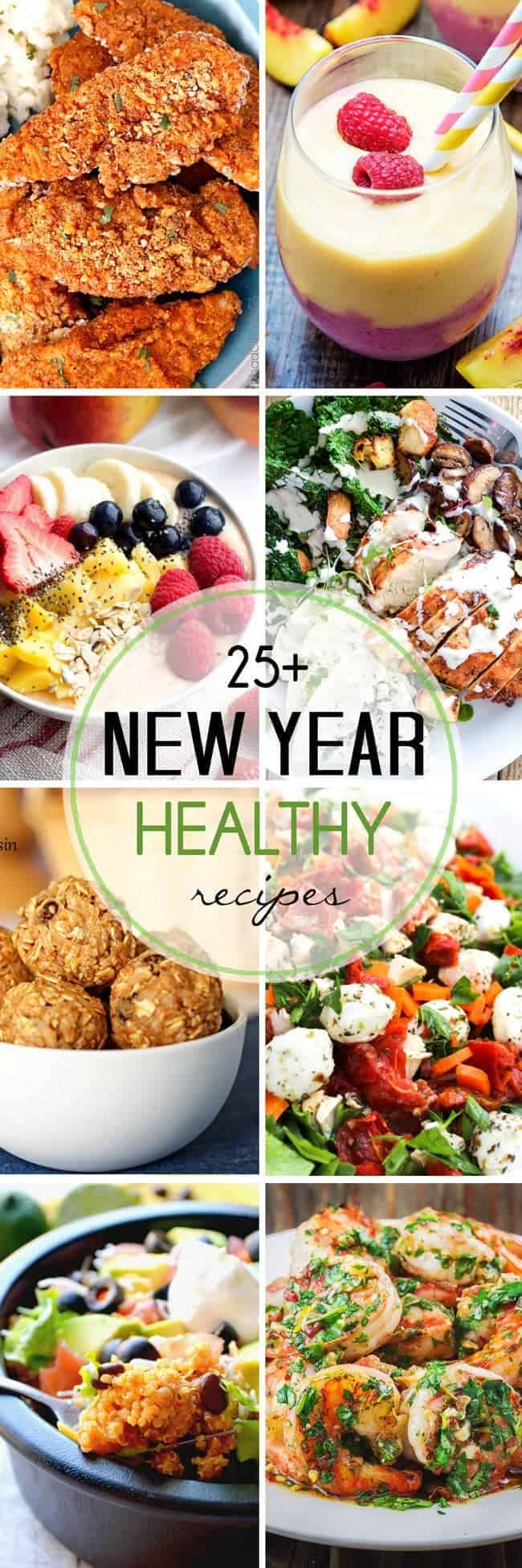 Over 25 Healthy Recipes from Your Favorite Bloggers. All healthy recipes together in one spot so you can get started on your New Years Resolutions and Goals right away!