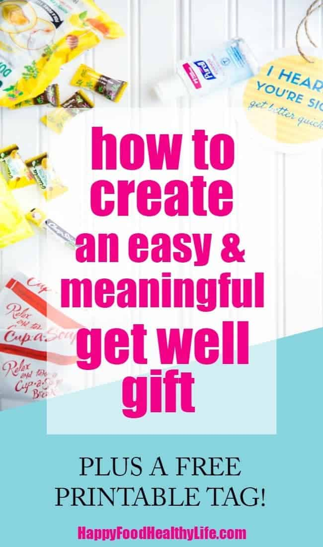 Have a friend who's sick and feeling under the weather and want to put together an easy gift basket full of things they'll actually use? This post will show you exactly what to include. Plus there's also a super cute tag you can print out to add to the gift.