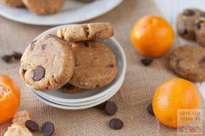 No-Bake Dark Chocolate Orange Protein Cookies - a healthy cookie that you can eat for breakfast? AND you don't even have to bake it, so it's ready in no time at all!