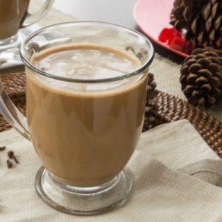 Vegan Eggnog Chai Latte