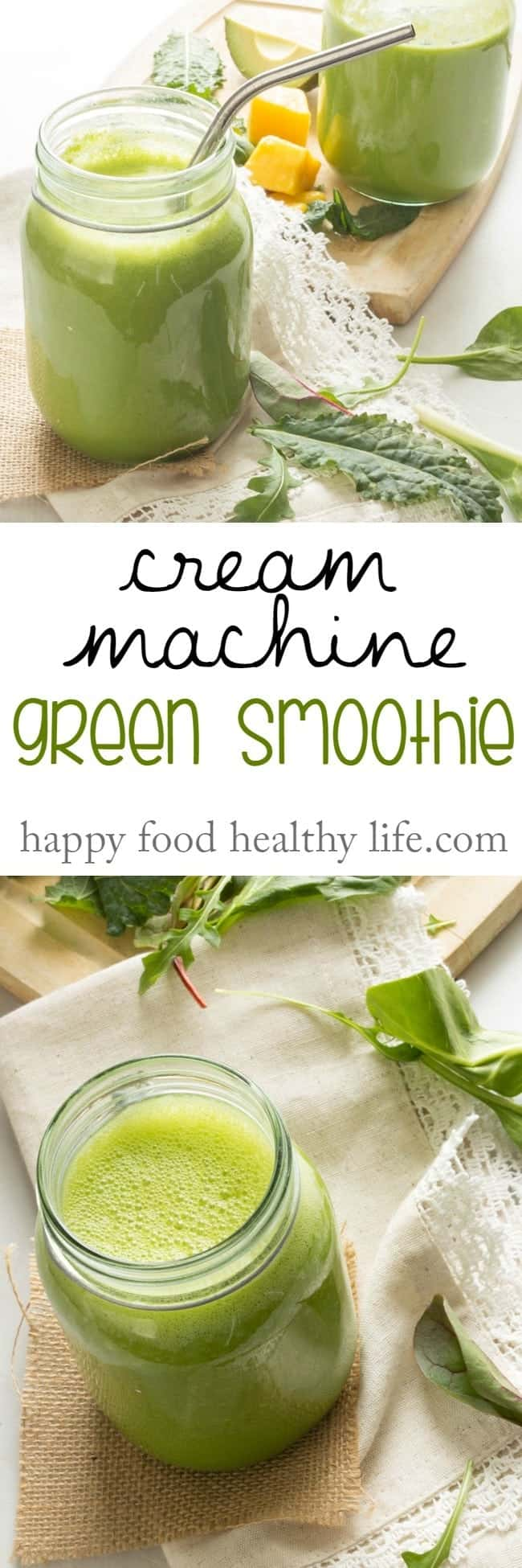 Looking for a delicious green smoothie that's full of greens but tastes sweet, creamy, and fruity? This is the one for you! And if you want to make it a meal-replacement, Click through for a quick cheat-sheet for you that'll help you out! It's FREE!