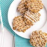 Healthy Soft Old-Fashioned Iced Oatmeal Cookies