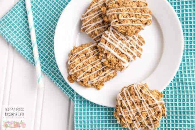 These Healthy and Soft Old-Fashioned Iced Oatmeal Cookies remind me of my childhood and reaching for Grandma's cookie jar. At least with this batch, they're a little lighter, but you'll never know it by how good they taste. Click through to get the easy recipe and start baking today!