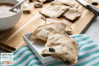 Vegetarian Spinach & Mushroom Quesadilla Recipe