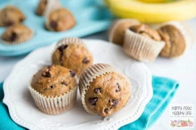 These Whole Wheat Dark Chocolate Banana Bread Muffins are the perfect healthy snack or breakfast. They come together in just a few minutes, PLUS you only have to dirty one large bowl. Total win. Click through for the recipe or pin for later! You're not going to want to lose this recipe!
