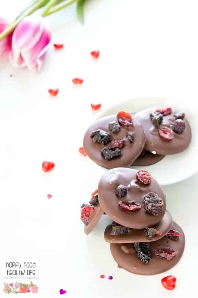 These Cinnamon Dark Chocolate Bites come together in less than 5 minutes and will tame any sweet tooth craving you have! Perfect for Valentine's Day or any day of the year.