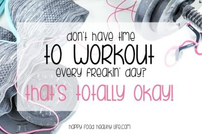 Feel like you have to workout every single day in order to get the results you want? Guess what, you totally don't have to. Ain't nobody got time for the gym every single day when life is so busy. Click through for a few tips for reaching your goals even without a daily trip to the gym ... PLUS! A free worksheet to help you out!