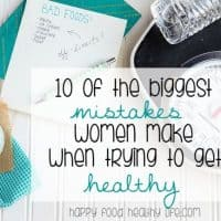 Are you making any of these mistakes? So many women make these disastrous mistakes when trying to get healthy. They totally get in the way of them reaching their goals and getting fit and healthy like they dream of. Make sure you click through to find out if you are making these same mistakes. You'll also find out what you can do to fix them if you are!