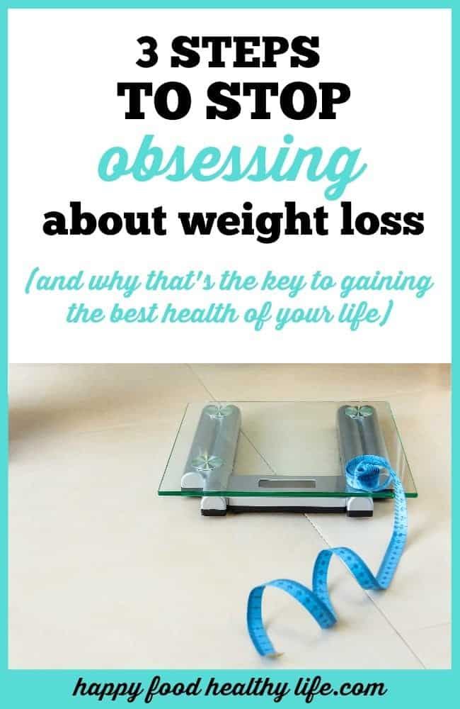 Often just obsessing about weight loss can be super harmful and counterproductive to our health success. Focusing on weight is a recipe for disaster, failure, and guilt. Click through and learn how to stop obsessing and start gaining the best health of your life.