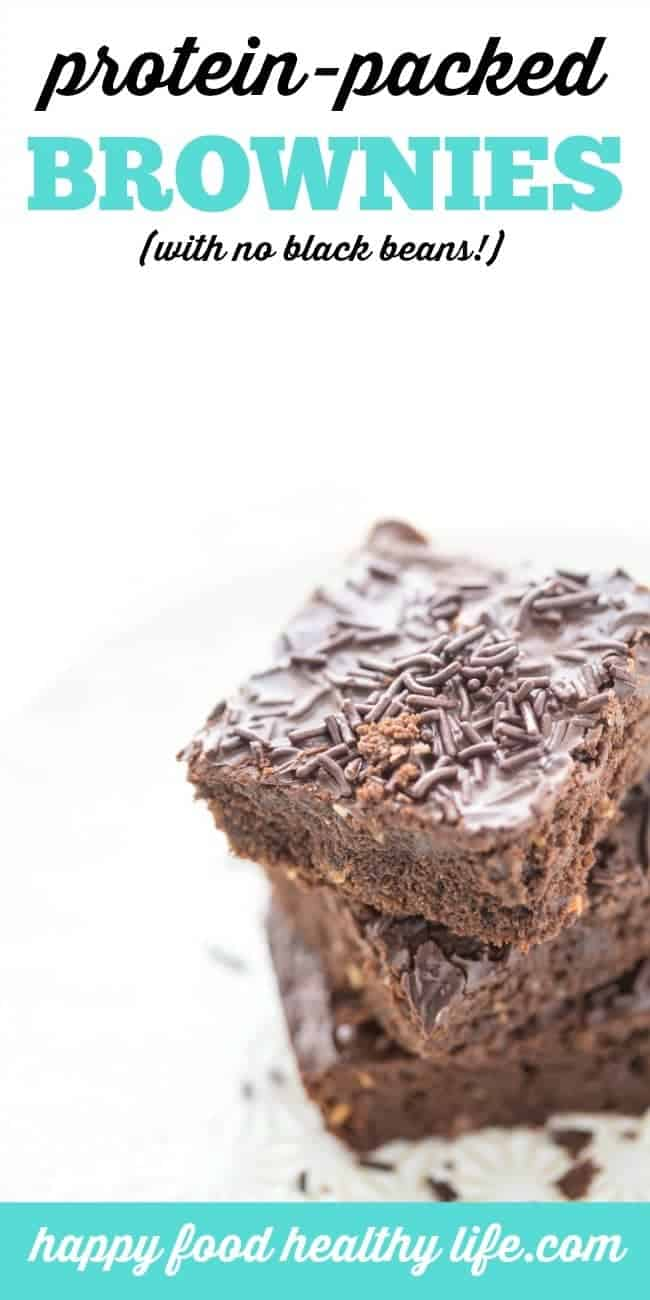 These Brownies are full of protein, but not from black beans like so many other protein brownie recipes. Full of flavor, full of chocolate, and full of whole ingredients. Make sure you click through to get the complete recipe and find out what the top foods you need to stock your kitchen with in order to stay healthy.