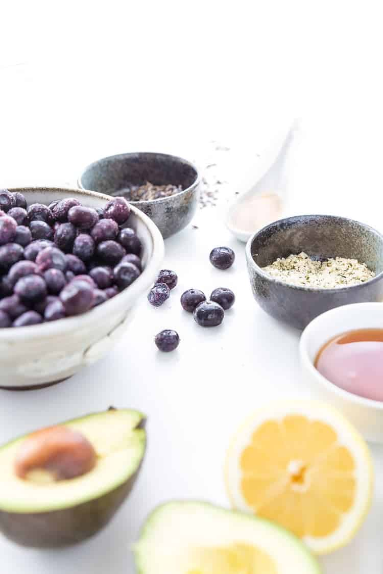 Drink in all of the life-giving benefits of real foods with this delicious smoothie. The bright, unexpected flavors of blueberry and lavender taste incredible together. Click through to find out exactly how to make this gorgeous smoothie bowl in your own kitchen