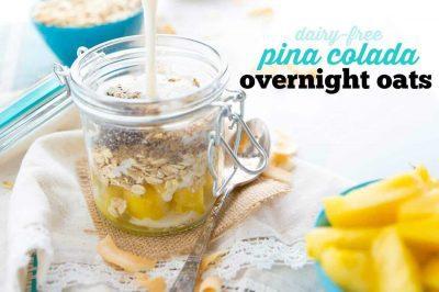 Dairy-Free Pina Colada Overnight Oats