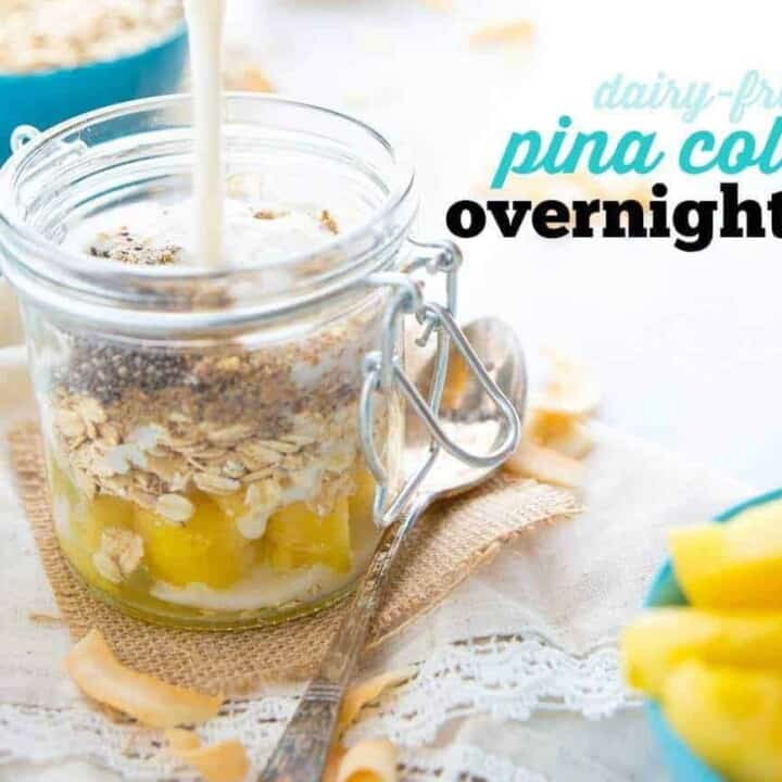 Dairy-Free Pina Colada Overnight Oats