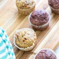 Healthy Banana Bread Muffins – Made 2 Ways