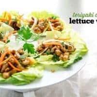 Vegan Teriyaki Cashew Lettuce Wraps Recipe