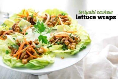Vegan Teriyaki Cashew Lettuce Wraps