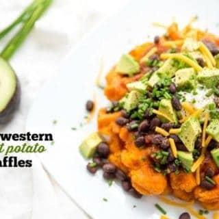 Southwestern Sweet Potato Waffles