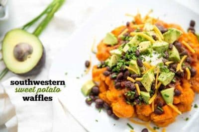 Southwestern Sweet Potato Waffles