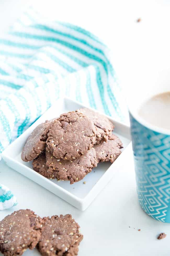 Double Chocolate Buckwheat Cookies - Double the chocolate = double the yum in this easy chocolate cookie recipe