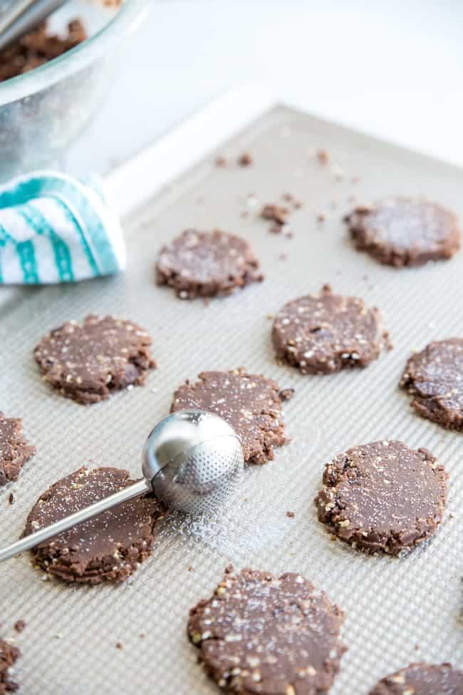 Double Chocolate Buckwheat Cookies - Double the chocolate = double the yum in this easy chocolate cookie recipe