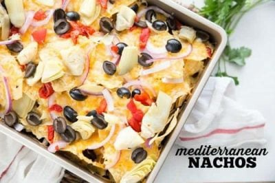 Mediterranean Nachos from The Weeknight Dinner Cookbook