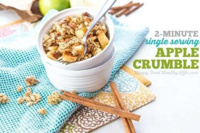 2-Minute Single Serving Apple Crumble