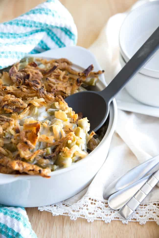 Mom's Green Bean Casserole | THANKSGIVING | SIDE DISH | Classic green bean casserole with a little something special to kick it up a notch. (spoiler alert - it's CHEESE!)